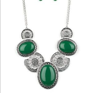 """Paparazzi Jewelry - New! Paparazzi """"The Medallion-Aire"""" Green Necklace"""